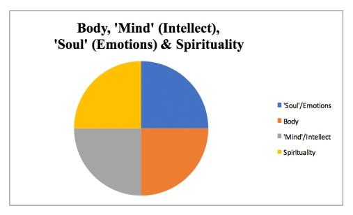 body, mind, soul, emotions