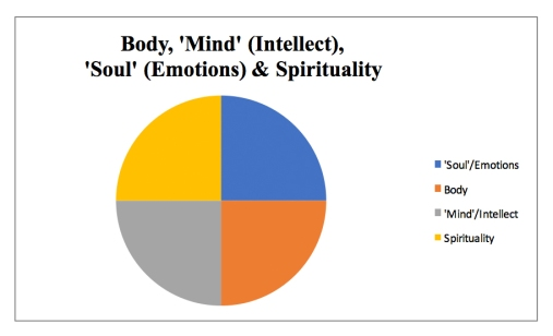 body, mind, soul, emotions
